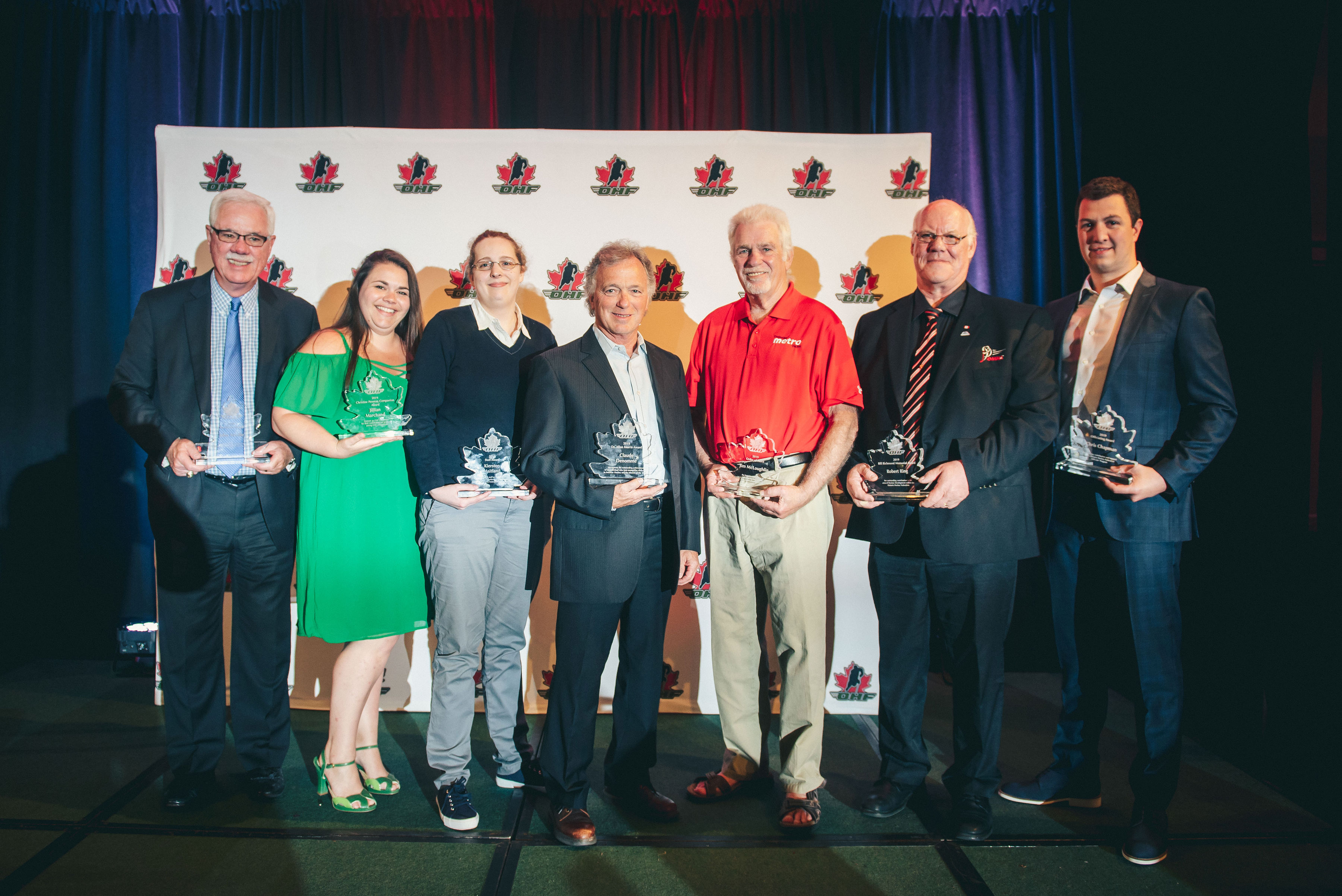 Individuals Recognized at OHF Awards Banquet